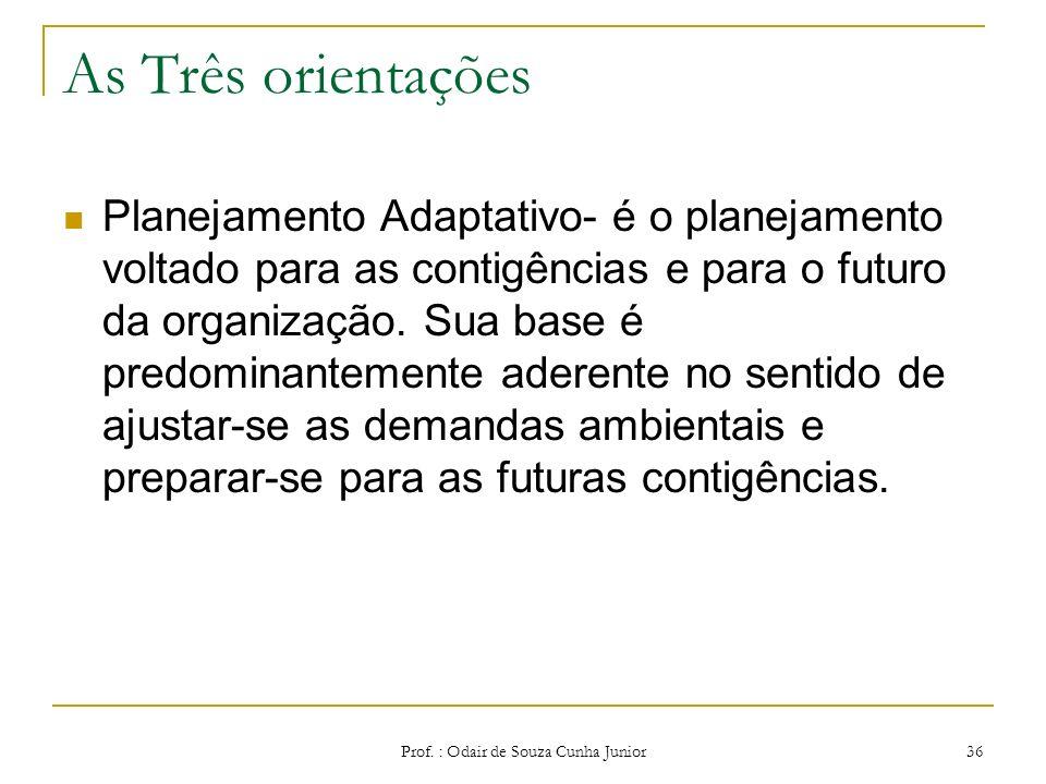 As Três orientações Como todo planejamento se subordina a uma filosofia de ação, Ackoff aponta três tipos de filosofia do planejamento: Planejamento C