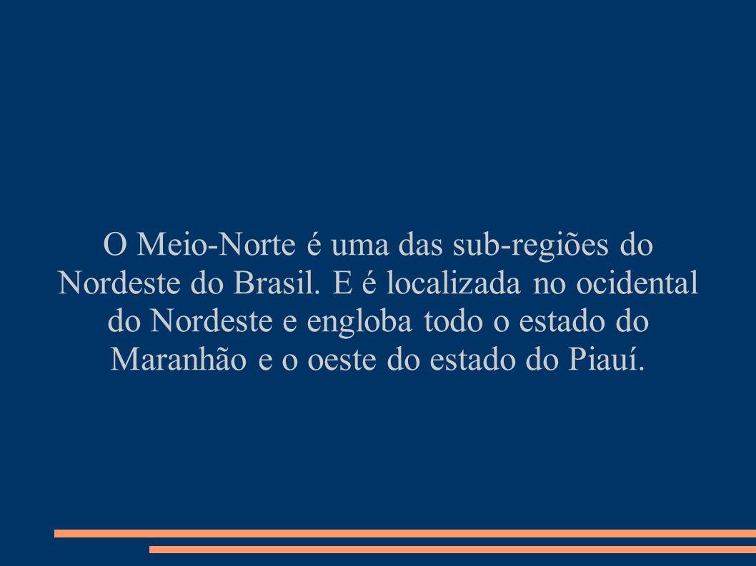 O Meio-Norte é uma das sub-regiões do Nordeste do Brasil. E é localizada no ocidental do Nordeste e engloba todo o estado do Maranhão e o oeste do est