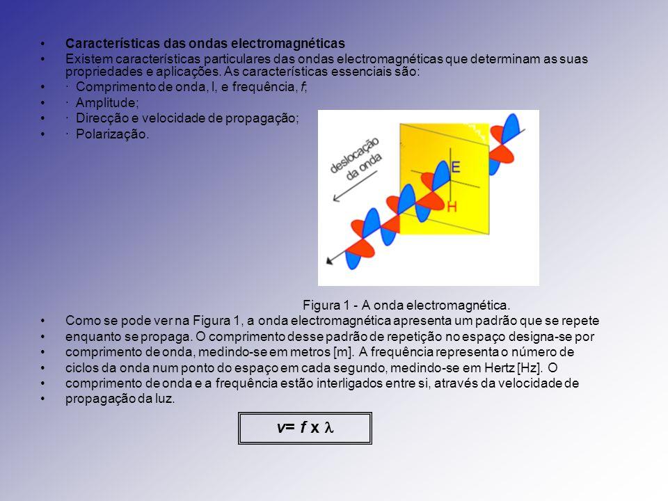 Características das ondas Comprimento de onda ( ): é a distância entre duas cristas sucessivas.