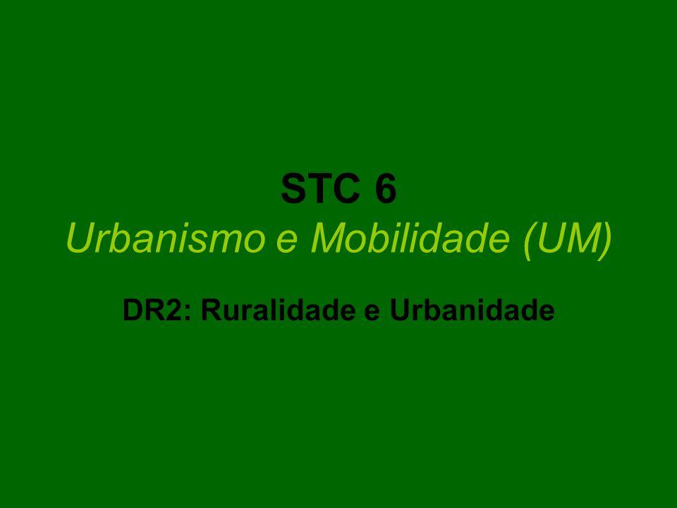 STC 6 Urbanismo e Mobilidade (UM) DR2: Ruralidade e Urbanidade