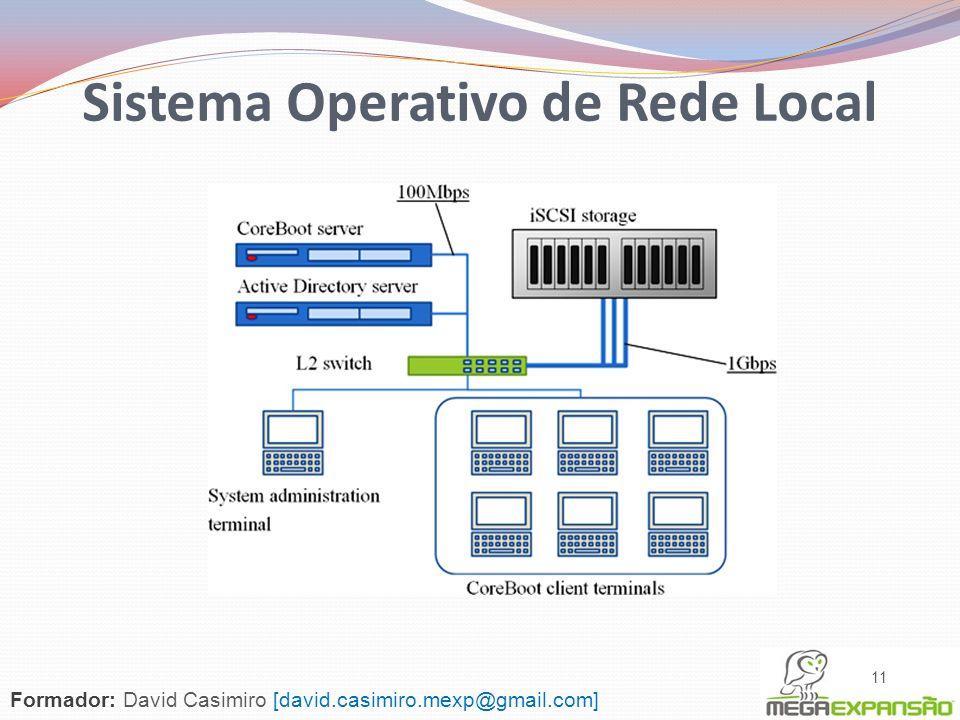 11 Sistema Operativo de Rede Local Formador: David Casimiro [david.casimiro.mexp@gmail.com]