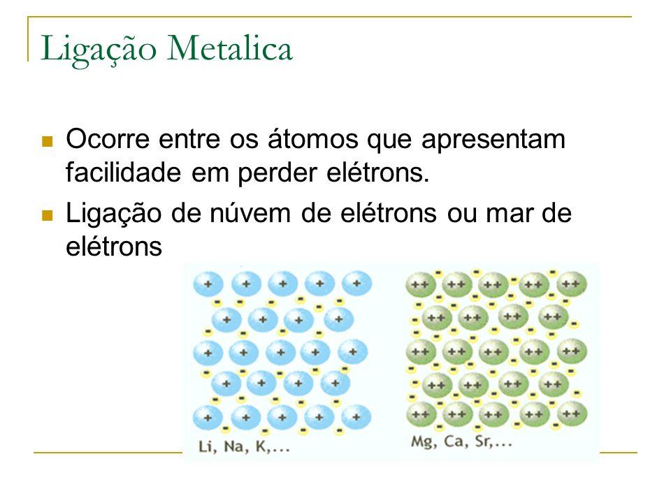 Caracteristicas de compostos metálicos Solidos na temperatura ambiente.