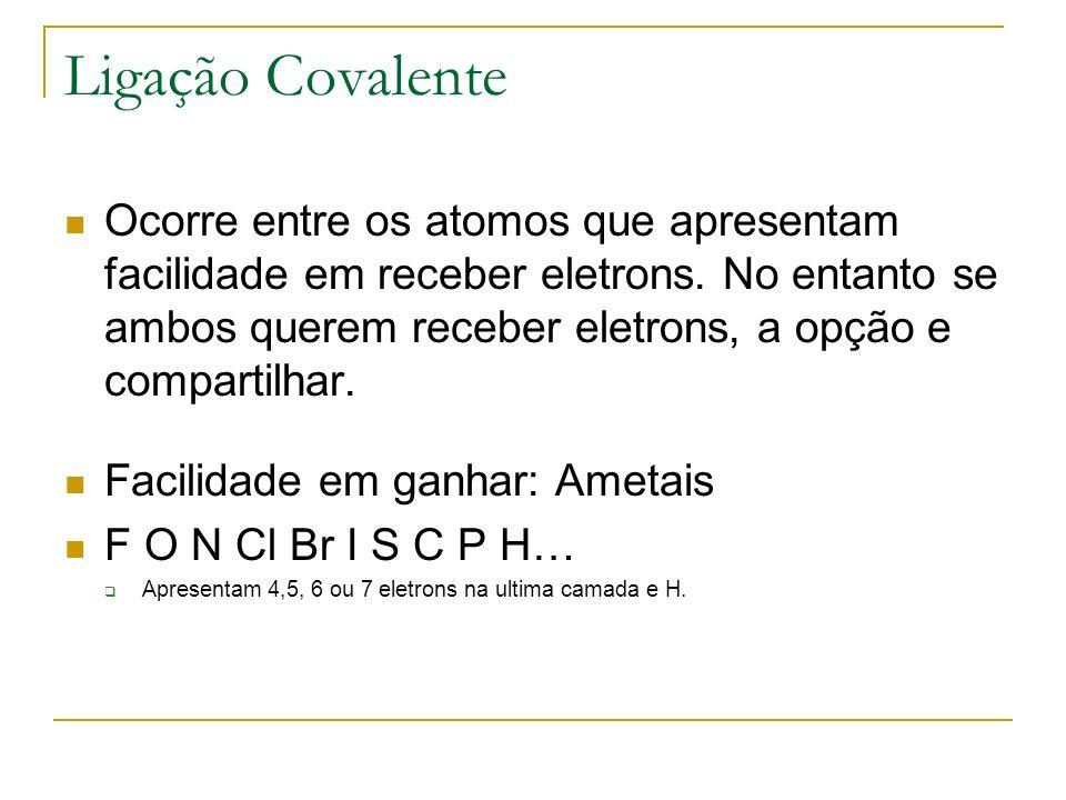 Caracteristicas de compostos covalentes Solidos, Líquidos ou Gasosos a temperatura ambiente.