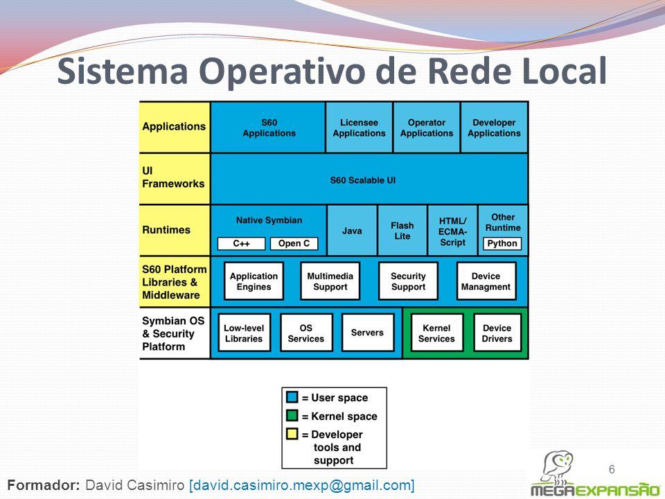 6 Sistema Operativo de Rede Local Formador: David Casimiro [david.casimiro.mexp@gmail.com]