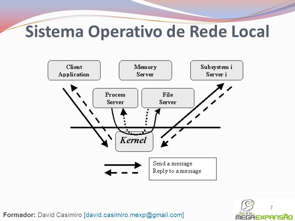 Sistema Cliente Utilização de serviços Sistema Servidor Serviços para serem disponibilizados aos Clientes Exemplos de S.O.