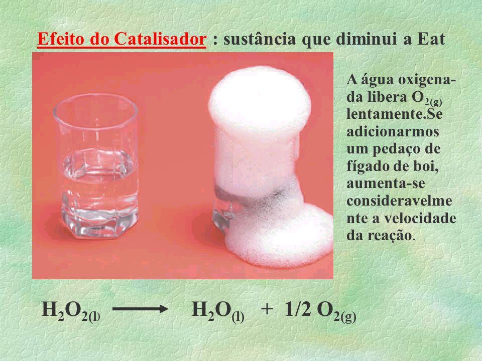 Exemplo: Na digestão dos alimentos ocorre uma série de reações químicas.