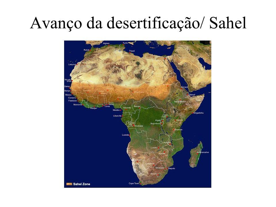 Avanço da desertificação/ Sahel