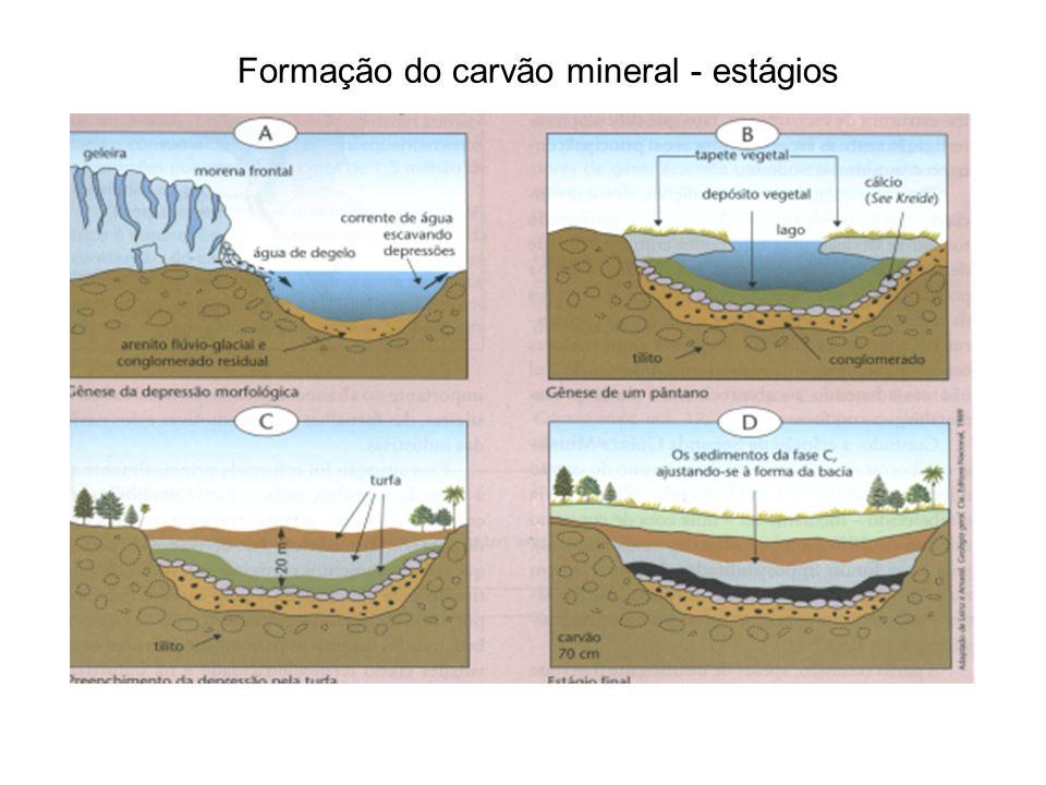 Carvão mineral no Brasil Matriz da Rev.Industrial, porém seu uso vem caindo.
