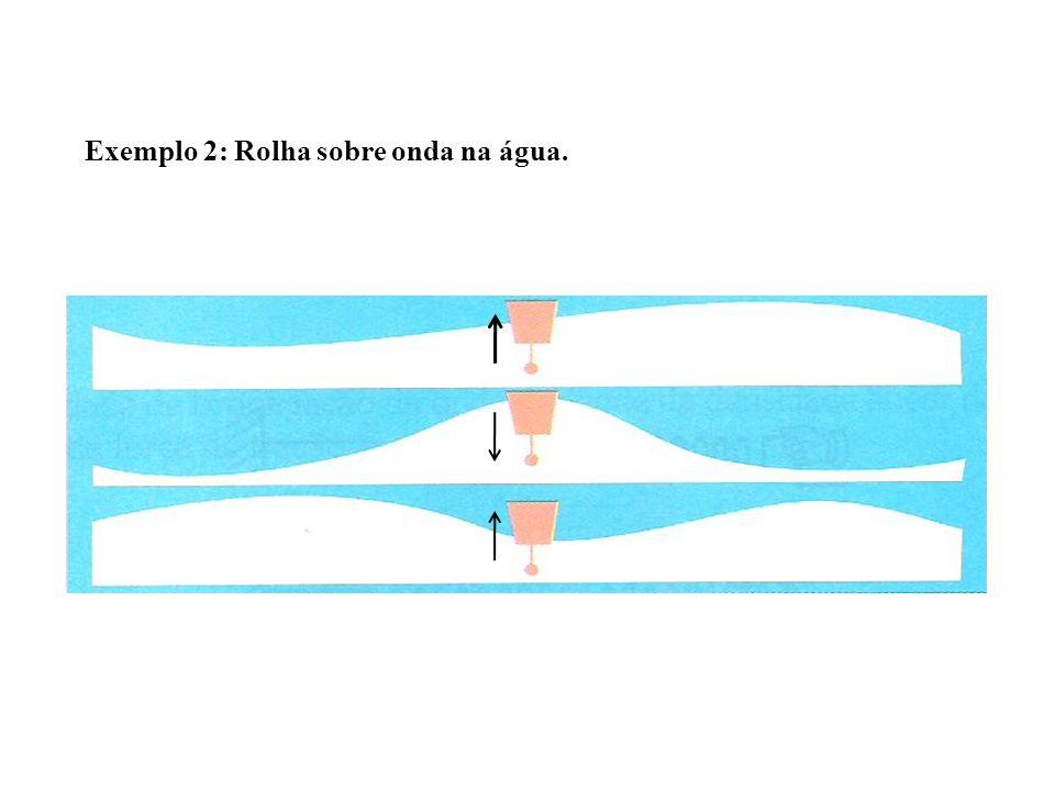Exemplo 2: Rolha sobre onda na água.