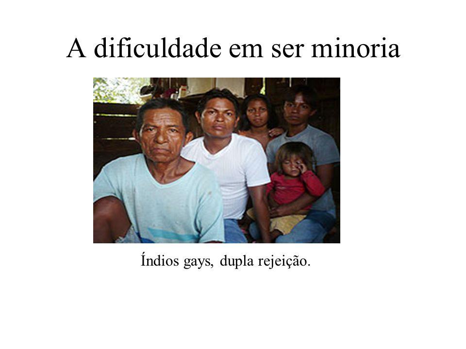 A dificuldade em ser minoria Índios gays, dupla rejeição.