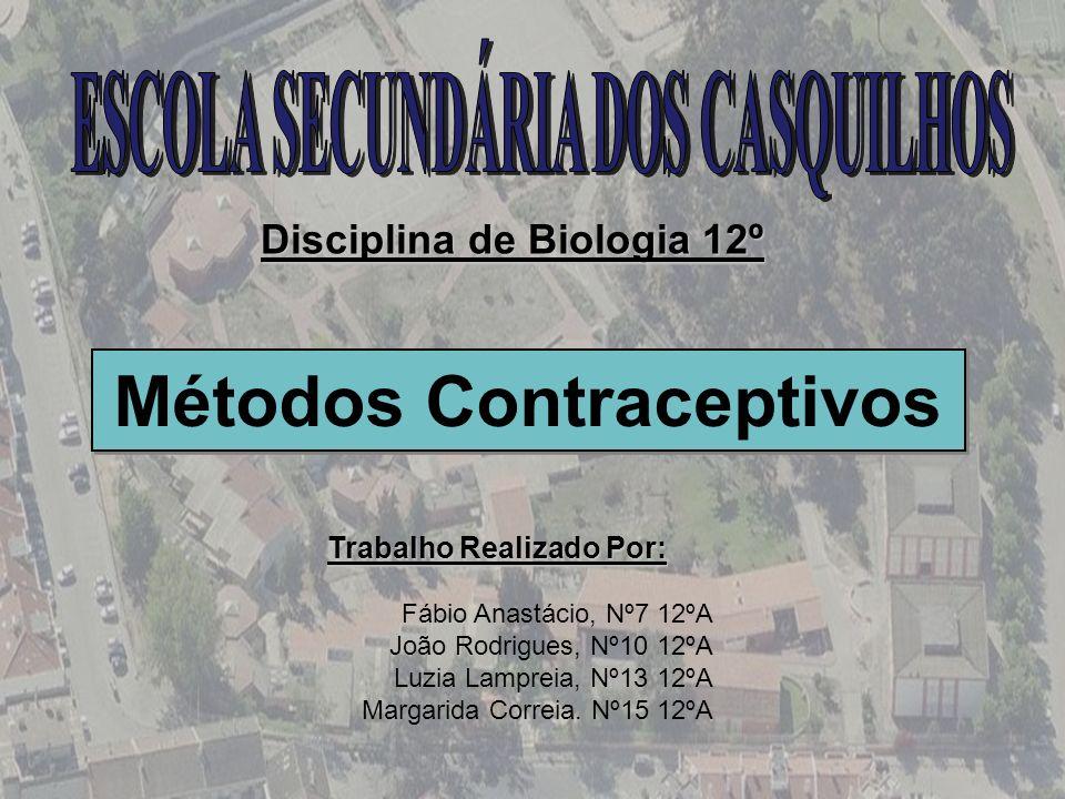 Métodos Contraceptivos Disciplina de Biologia 12º Trabalho Realizado Por: Fábio Anastácio, Nº7 12ºA João Rodrigues, Nº10 12ºA Luzia Lampreia, Nº13 12º