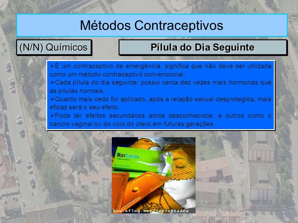 (N/N) Químicos Métodos Contraceptivos Pílula do Dia Seguinte É um contraceptivo de emergência, significa que não deve ser utilizada como um método con