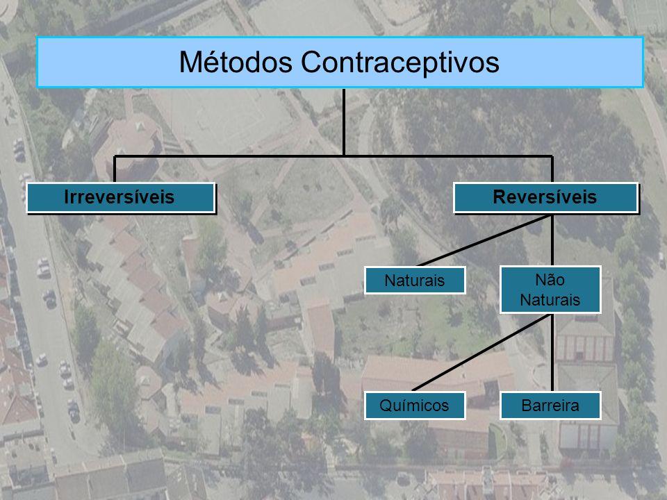 Métodos Contraceptivos Reversíveis Naturais Barreira Não Naturais Químicos Irreversíveis