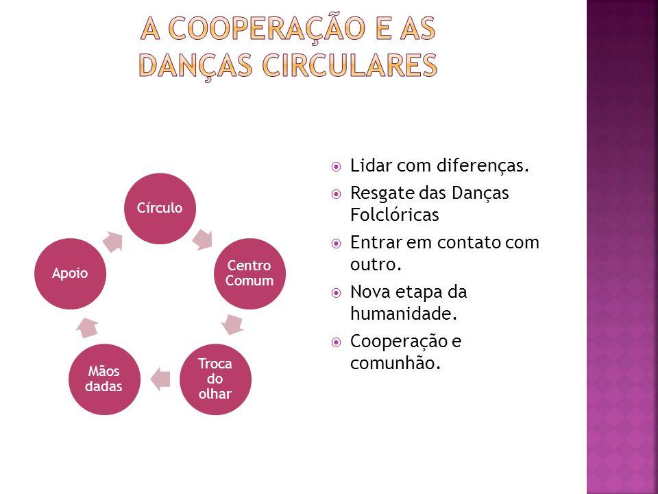 Círculo Centro Comum Troca do olhar Mãos dadas Apoio Lidar com diferenças.