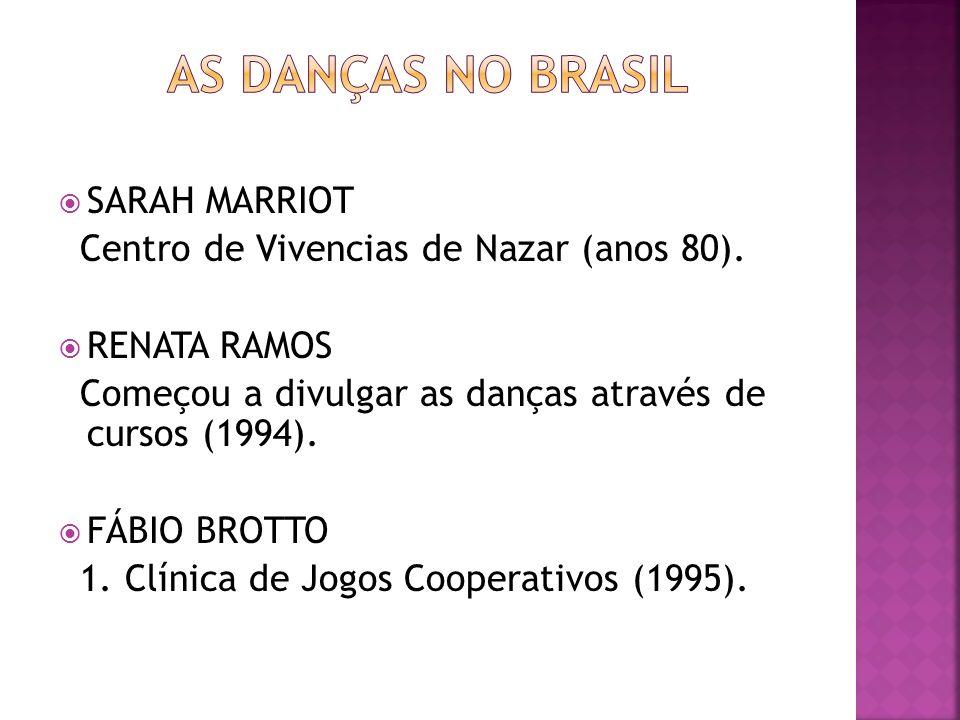 SARAH MARRIOT Centro de Vivencias de Nazar (anos 80). RENATA RAMOS Começou a divulgar as danças através de cursos (1994). FÁBIO BROTTO 1. Clínica de J