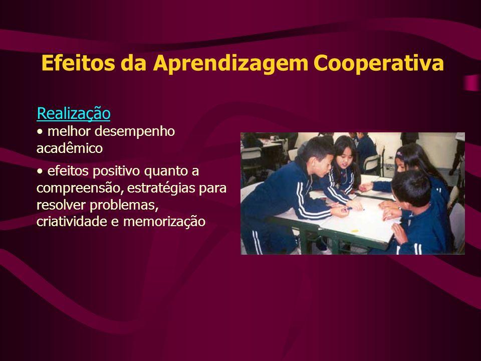Realização melhor desempenho acadêmico efeitos positivo quanto a compreensão, estratégias para resolver problemas, criatividade e memorização