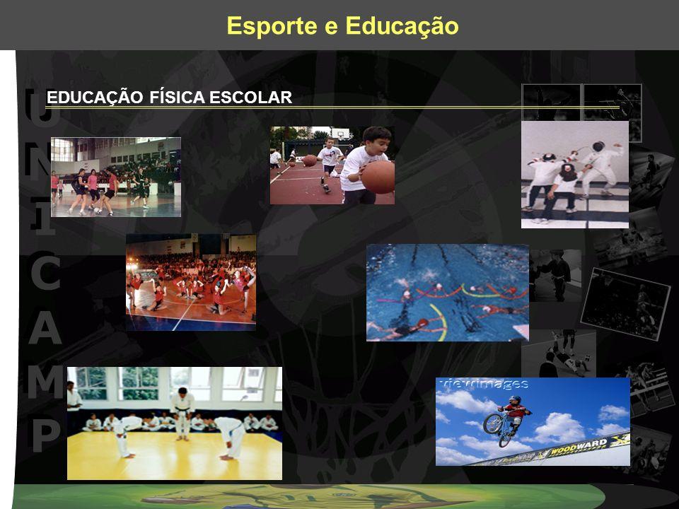 UNICAMPUNICAMP UNICAMPUNICAMP Esporte e Educação EDUCAÇÃO FÍSICA ESCOLAR