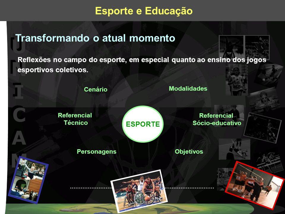UNICAMPUNICAMP UNICAMPUNICAMP Esporte e Educação Transformando o atual momento Reflexões no campo do esporte, em especial quanto ao ensino dos jogos e