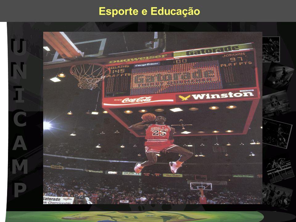 UNICAMPUNICAMP UNICAMPUNICAMP Esporte e Educação Transformando o atual momento Reflexões no campo do esporte, em especial quanto ao ensino dos jogos esportivos coletivos.