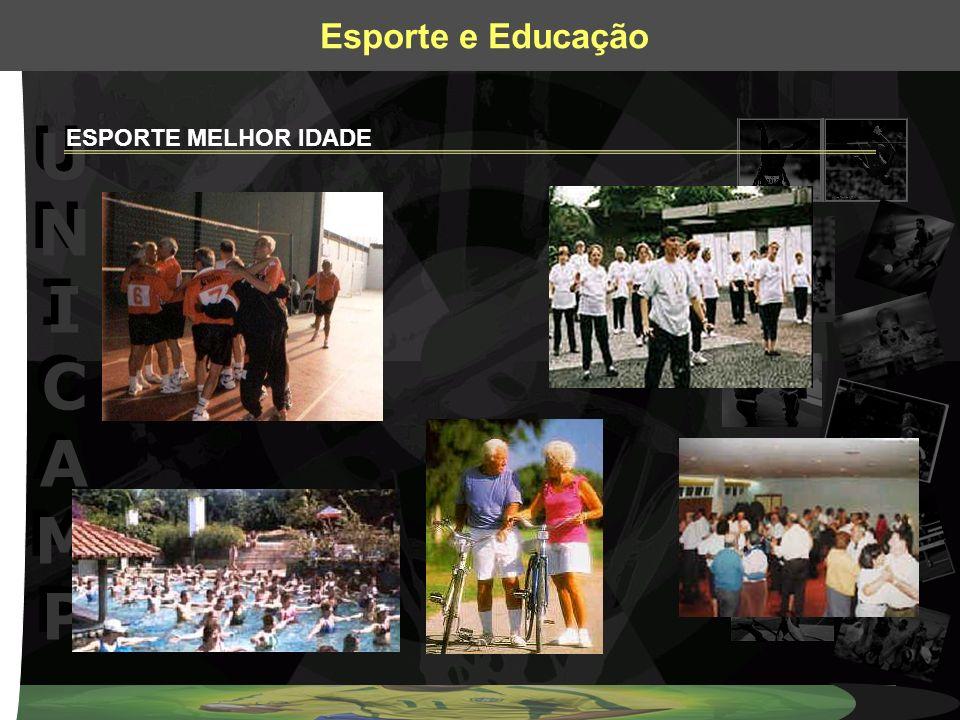 UNICAMPUNICAMP UNICAMPUNICAMP Esporte e Educação Não basta ensinar ao homem uma especialidade.