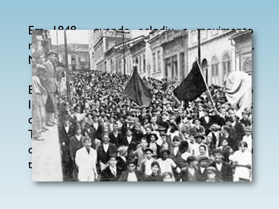 Em 1848, quando eclodiu o movimento revolucionário em vários países europeus, Marx voltou para Alemanha.