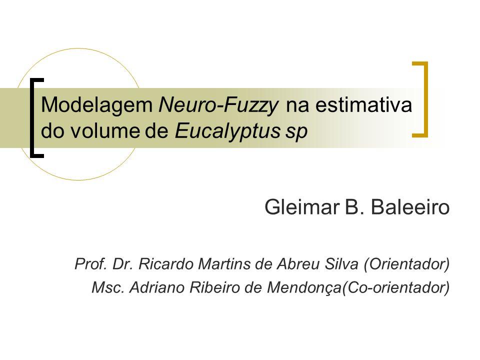 Modelagem Neuro-Fuzzy na estimativa do volume de Eucalyptus sp Gleimar B. Baleeiro Prof. Dr. Ricardo Martins de Abreu Silva (Orientador) Msc. Adriano