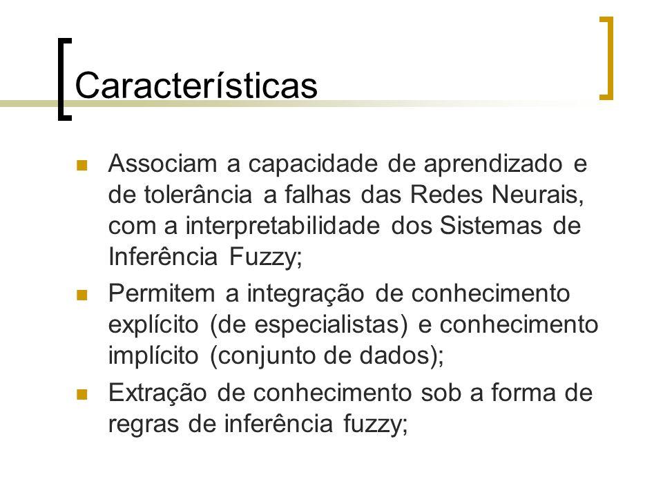 Características Associam a capacidade de aprendizado e de tolerância a falhas das Redes Neurais, com a interpretabilidade dos Sistemas de Inferência F