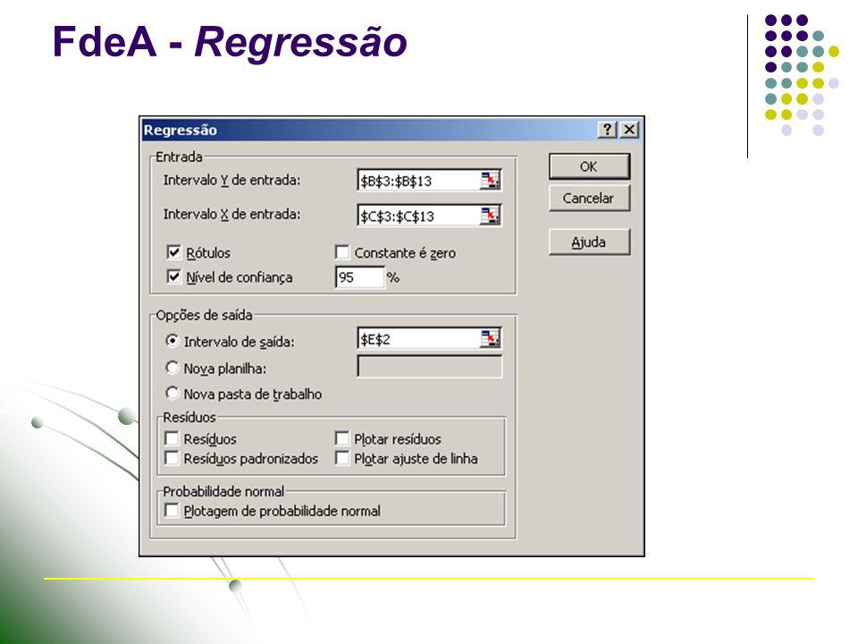 FdeA - Regressão