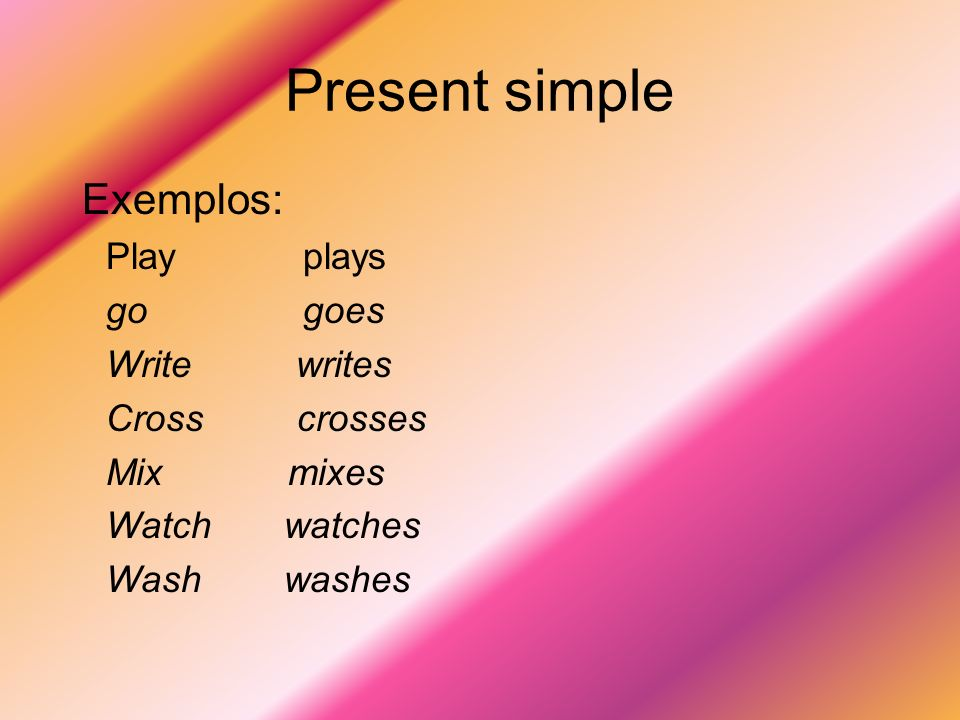 Present simple Negative form:don´t \ doesn´t + infinitive he\she\it (do not) (does not)