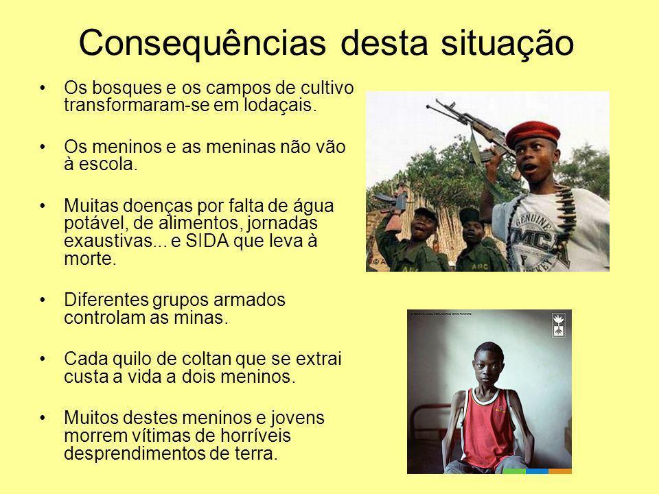 Quem trabalha nas minas? Camponeses e jovens criadores de gado que deixaram os seus campos. Desmilitarizados de guerra. Prisioneiros de guerra. Milhar