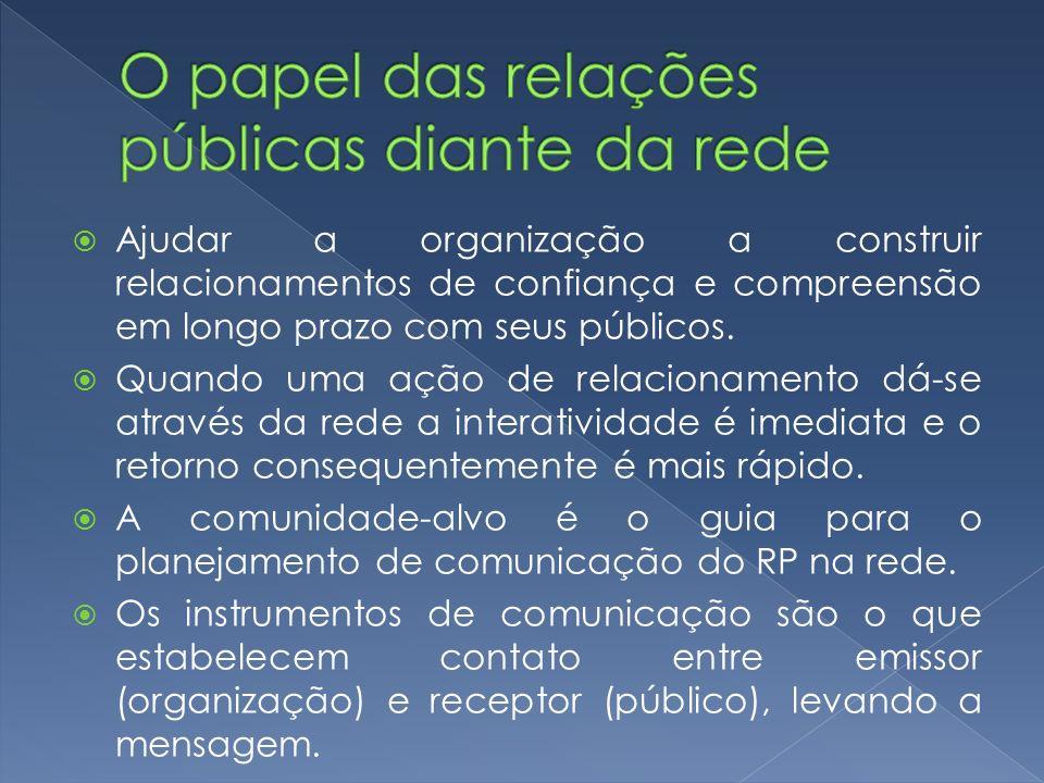 O relações públicas irá: entender as necessidades dos públicos.