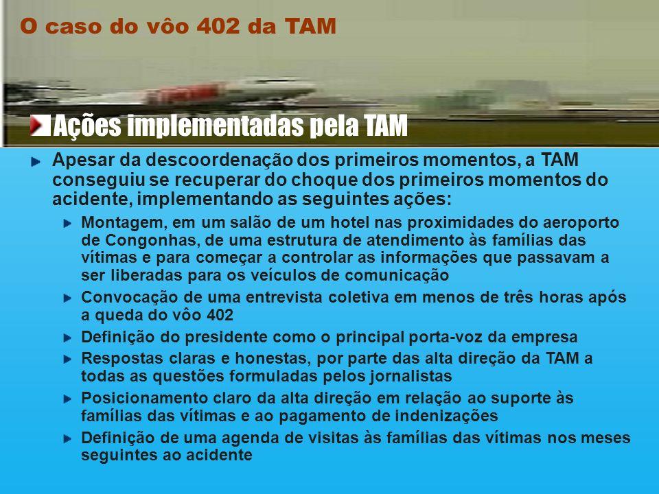 Houve grande suspense no vôo 520 da TAM, que decolou de Congonhas para Brasília, logo após o acidente com o vôo 402. Provocado pela ação intempestiva