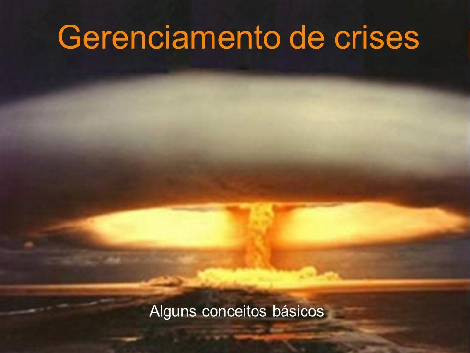 Gerenciamento de crises Alguns conceitos básicos