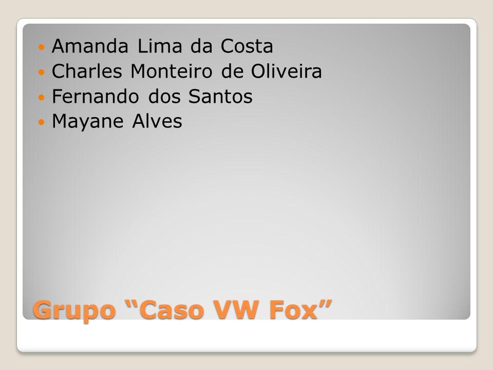 Grupo Caso VW Fox Amanda Lima da Costa Charles Monteiro de Oliveira Fernando dos Santos Mayane Alves