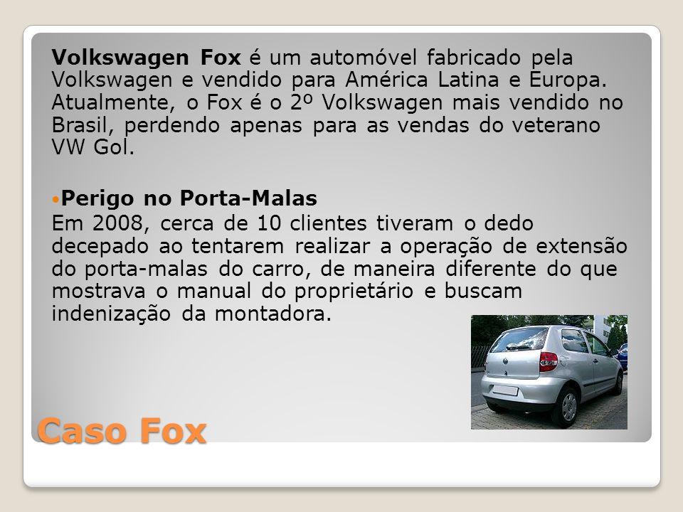 Caso Fox Volkswagen Fox é um automóvel fabricado pela Volkswagen e vendido para América Latina e Europa. Atualmente, o Fox é o 2º Volkswagen mais vend