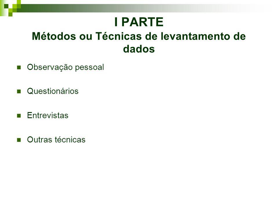 Ciclo que participam os Métodos ou Técnicas de levantamento de dados e processamento de informação e conhecimento(...)