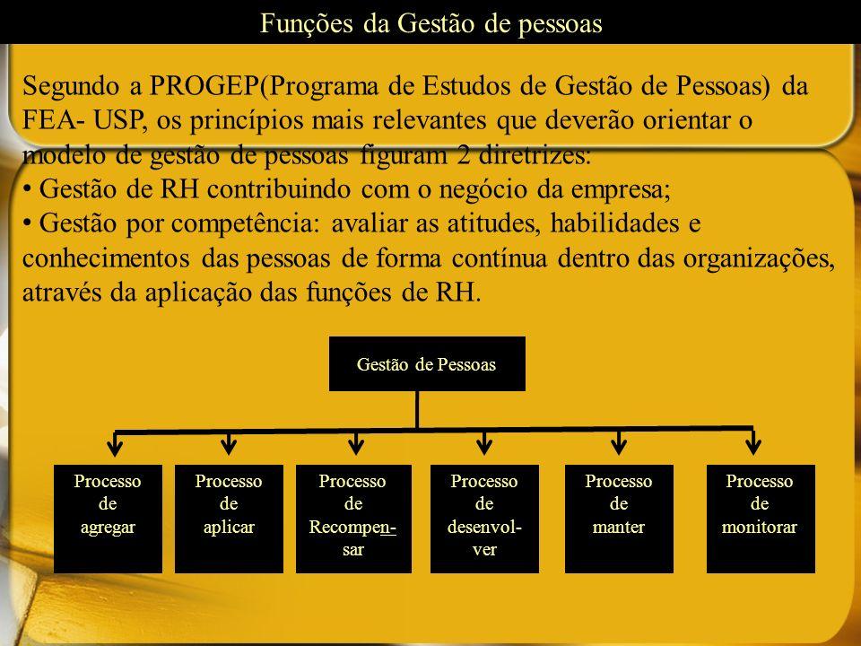 Segundo a PROGEP(Programa de Estudos de Gestão de Pessoas) da FEA- USP, os princípios mais relevantes que deverão orientar o modelo de gestão de pesso
