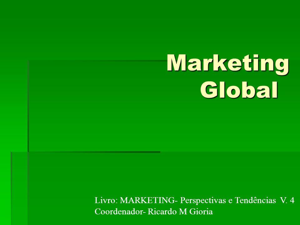 Marketing global Conceito: É a atuação de empresas em outros mercados.