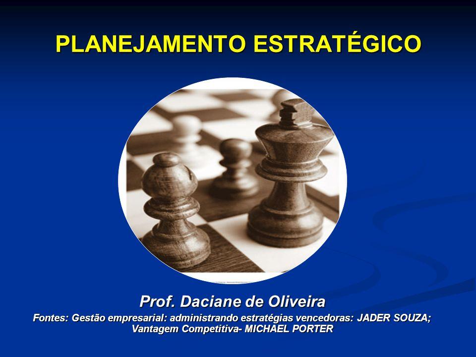 PLANEJAMENTO ESTRATÉGICO Prof. Daciane de Oliveira Fontes: Gestão empresarial: administrando estratégias vencedoras: JADER SOUZA; Vantagem Competitiva
