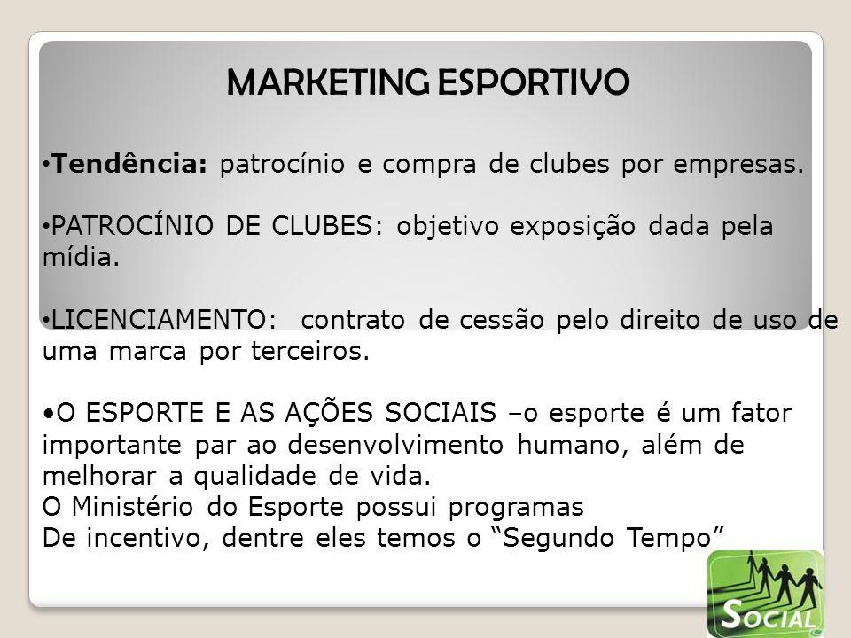Tendência: patrocínio e compra de clubes por empresas.