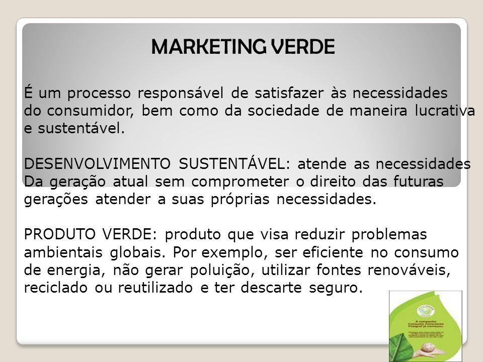 É um processo responsável de satisfazer às necessidades do consumidor, bem como da sociedade de maneira lucrativa e sustentável.