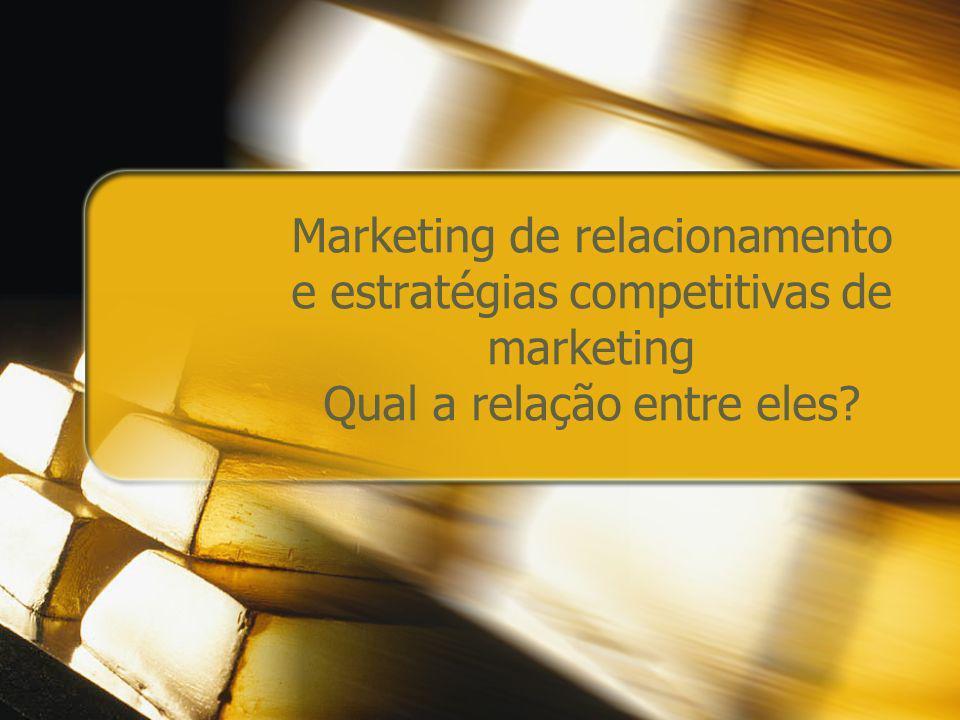 Marketing de relacionamento e estratégias competitivas de marketing Qual a relação entre eles?