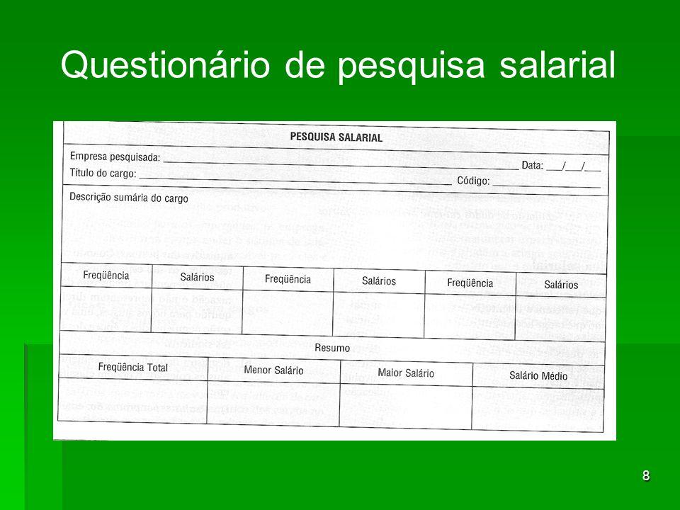 8 Questionário de pesquisa salarial