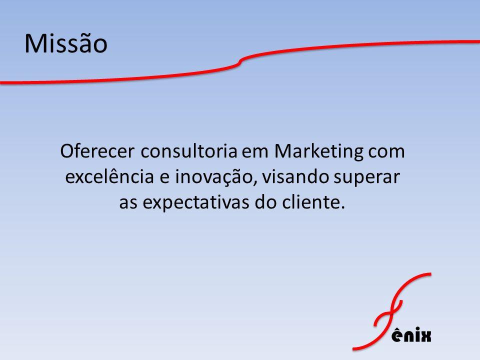 ênix Missão Oferecer consultoria em Marketing com excelência e inovação, visando superar as expectativas do cliente.
