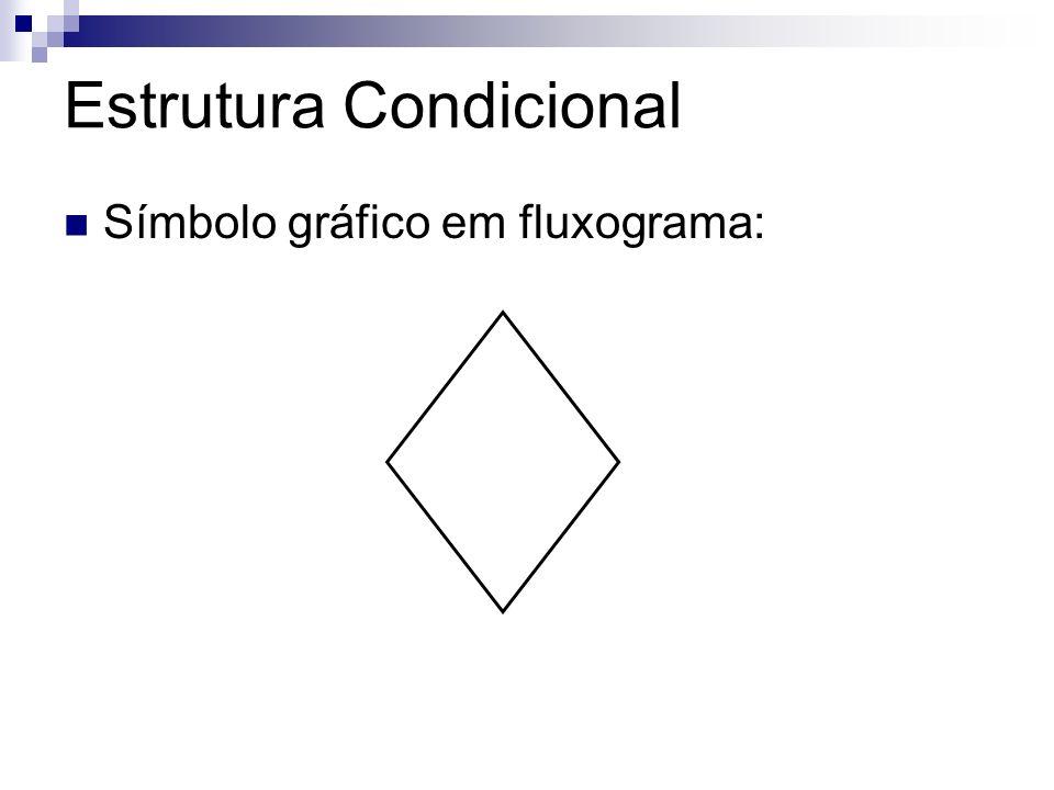 Estrutura Condicional Símbolo gráfico em fluxograma: