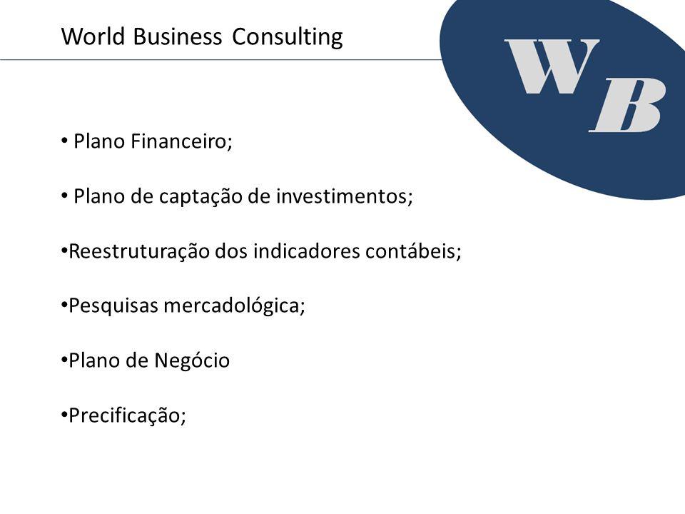 Plano Financeiro; Plano de captação de investimentos; Reestruturação dos indicadores contábeis; Pesquisas mercadológica; Plano de Negócio Precificação