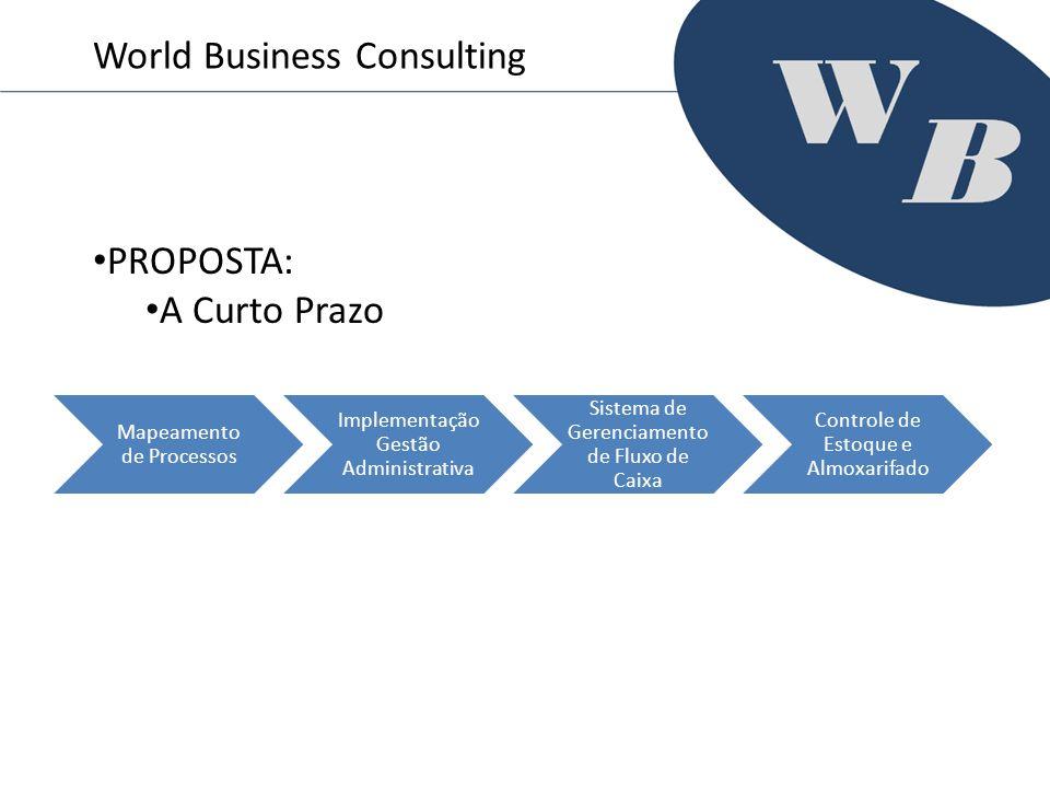 Mapeamento de Processos Implementação Gestão Administrativa Sistema de Gerenciamento de Fluxo de Caixa Controle de Estoque e Almoxarifado World Busine