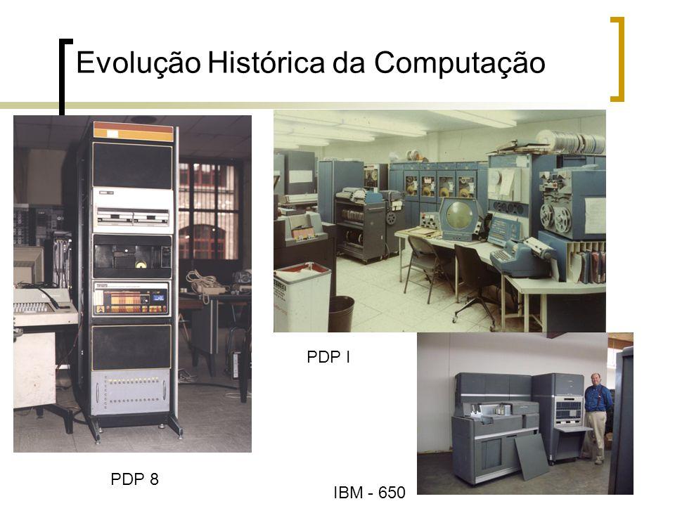 22 Evolução Histórica da Computação IBM - 650 PDP I PDP 8