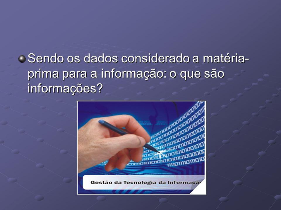 As informações são dados com significado.