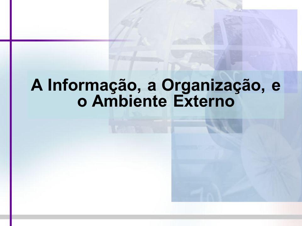 A Informação, a Organização, e o Ambiente Externo